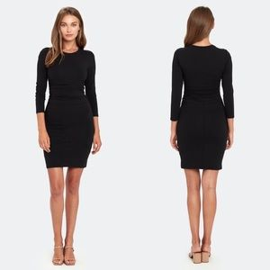 ATM | NWT Pima Cotton Long Sleeve Dress Black M